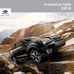 Brochures Subaru Forester Brochure Forester 2014