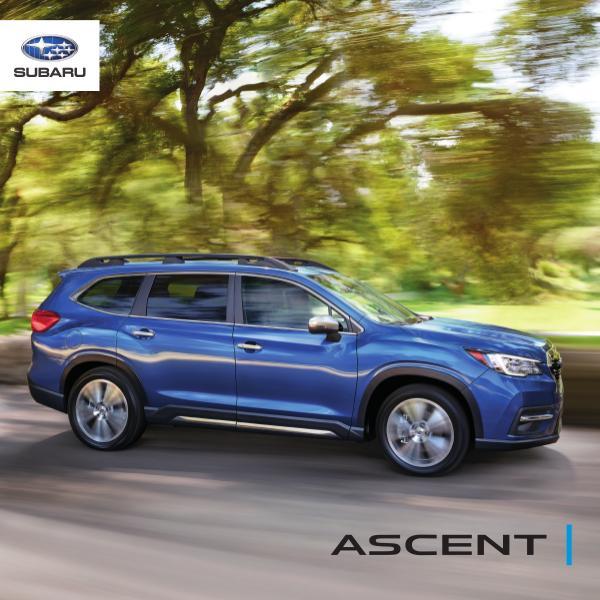 Subaru Ascent Brochures 2020 Ascent Brochure