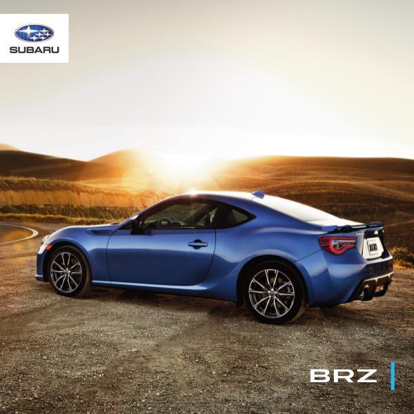 Brochures Subaru BRZ Brochure BRZ 2020