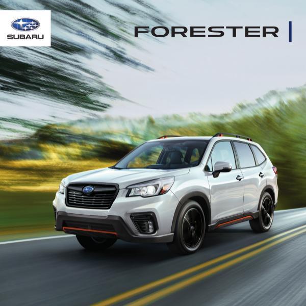 Subaru Forester Brochures 2020 Forester Brochure