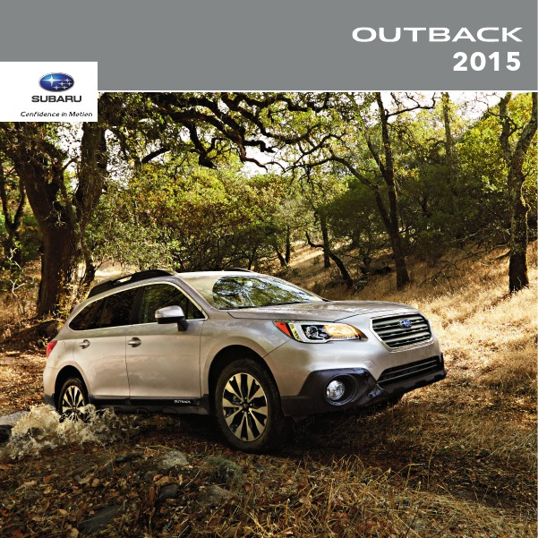 Subaru Outback Brochures 2015 Outback Brochure