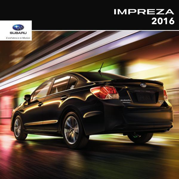 2016 Impreza Brochure