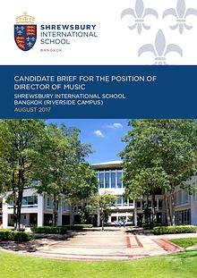 Shrewsbury International School, Bangkok - Candidate Briefs