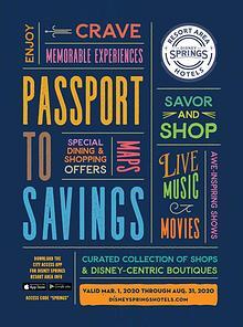 Disney Springs Passport March 2020