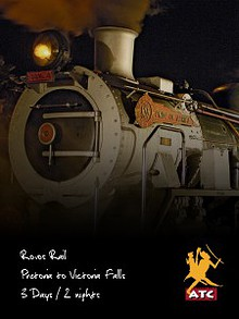 Rovos Rail 2 Nights - Pretoria to Victoria Falls