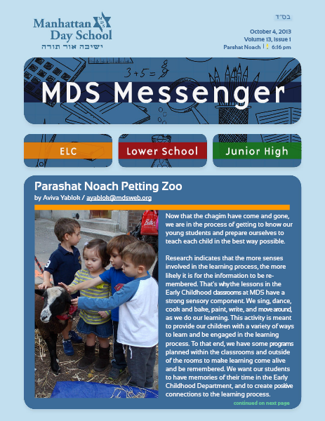 MDS Messenger Volume 13, Issue 1