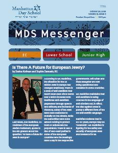 MDS Messenger Volume 13, Issue 4