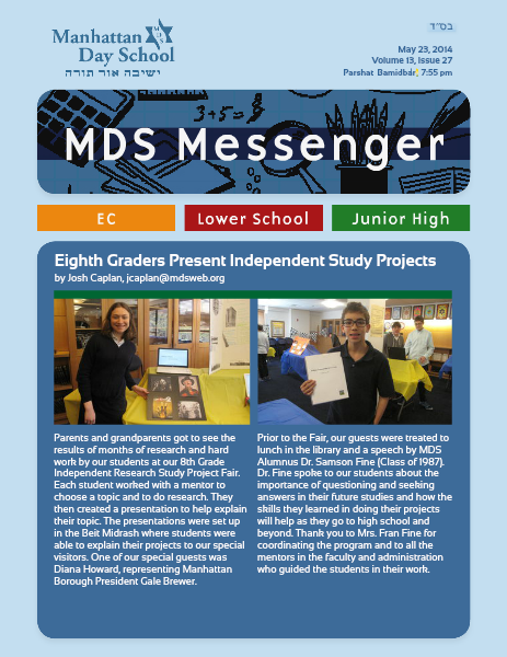 MDS Messenger Volume 13, Issue 27