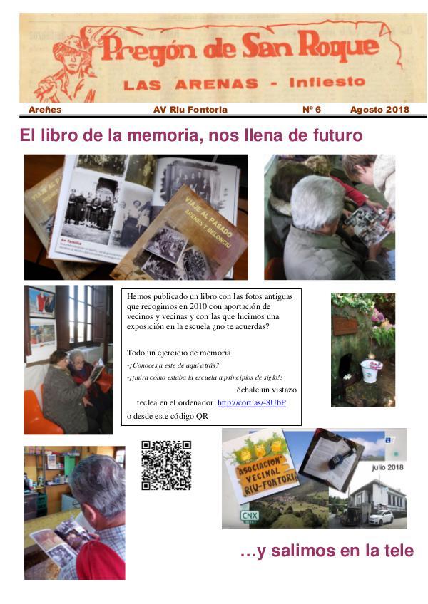 Periódico Pregón de San Roque - Areñes (Piloña Asturias) 2018 Pregón de San Roque -Areñes (Piloña Asturias)