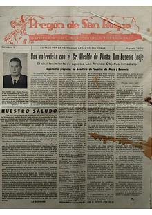 1954 Pregón de S. Roque-Areñes (Piloña Asturias)