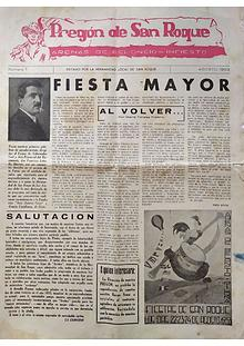 1953 Pregón de S. Roque-Areñes (Piloña Asturias)