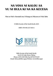 Bible Week Booklet Fijian Version
