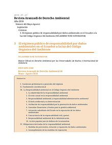 Revista Aranzadi de Derecho Ambiental - Wladimir Tene