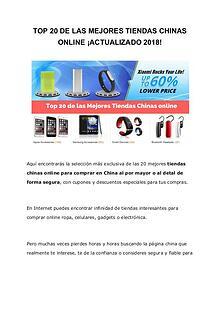 Tiendas Chinas Online