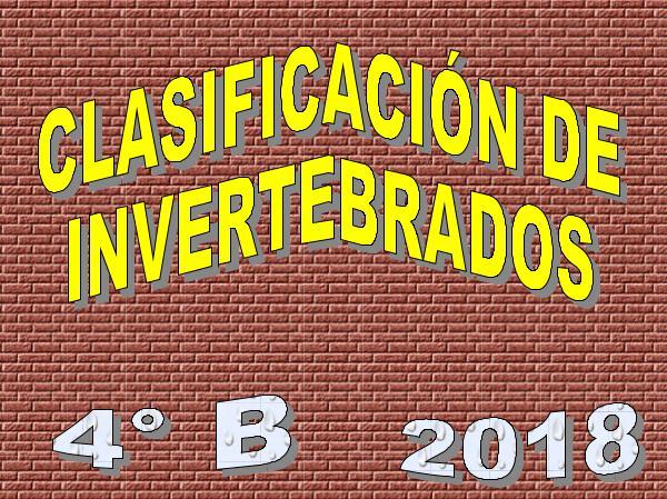 CLASIFICACIÓN DE INVERTEBRADOS. INFOGRAFÍAS. 4 B