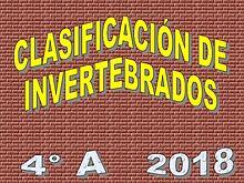 CLASIFICACIÓN DE INVERTEBRADOS. INFOGRAFÍAS.