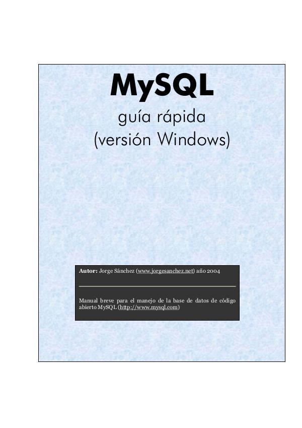 MYSQL mysql