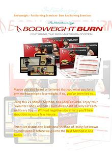 BodyWeight Expert  - Fat Burning Exercises Review
