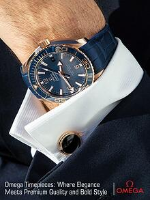 Omega Timepiece:  Where Elegance Meets Premium Quality and Bold Style
