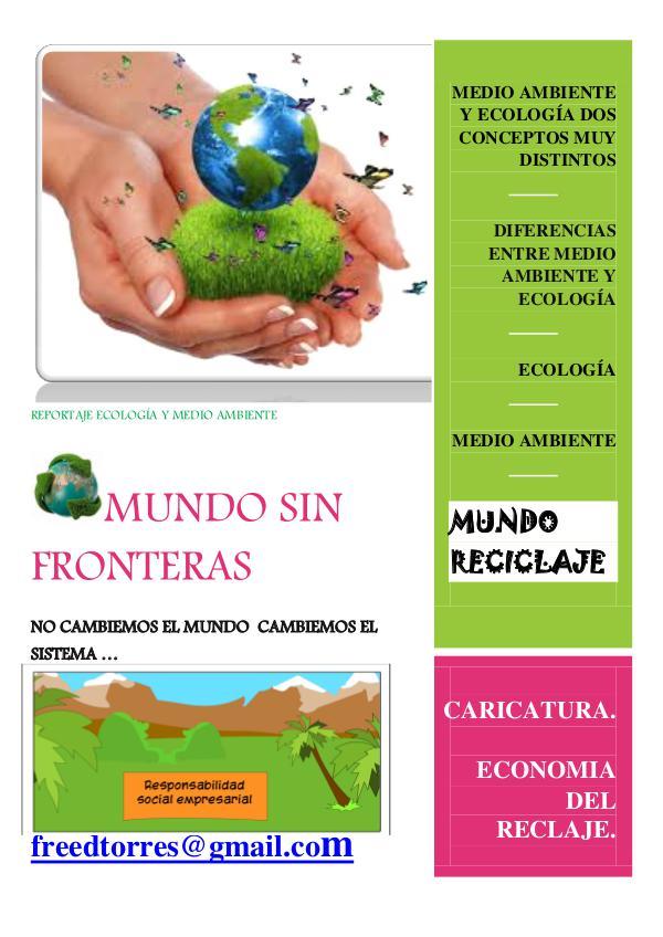 MUNDO SIN FRONTERAS AÑO1 REVISTA MUNDO SIN FRONTERAS