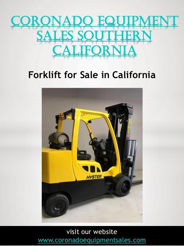Coronado Equipment Sales Coronado Equipment Sales Southern California