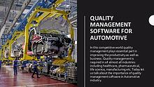 Quality Management software for Automotive Industry