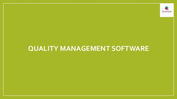 Quality Management Software Quality Management software
