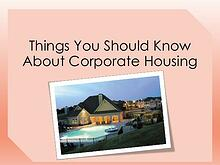A Corporate Housing PUBLICATION