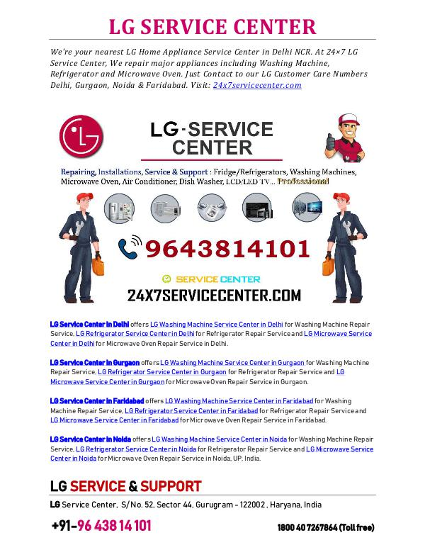 LG Appliance Repairs LG SERVICE CENTER