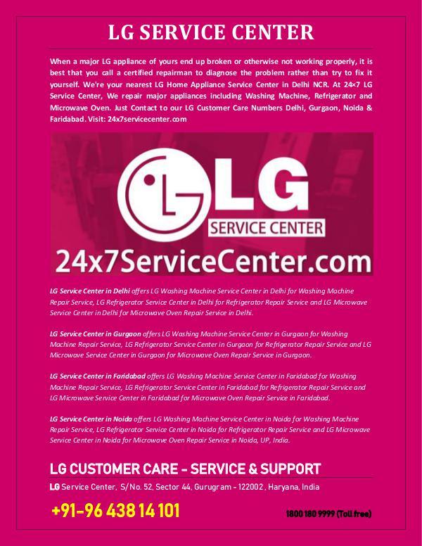 LG Appliance Repairs LG Customer Care
