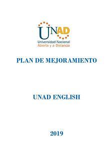 Plan de mejoramiento 2019 - UNAD ENGLISH