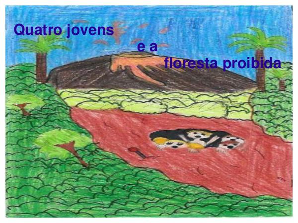 Sophia, Matheus e Pedro Vitor em Quatro jovens e a floresta proibida. Sophia, Matheus  e Pedro Vitor em Quatro jovens e