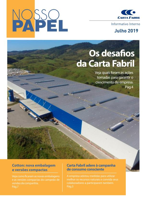 REVISTA NOSSO PAPEL - JULHO/2019 Revista Nosso Papel - Edição Julho/2019