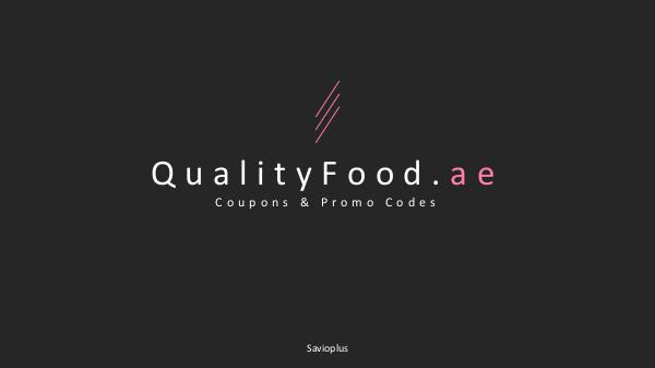 Shopping Coupons & Discount Code How to use QualityFood Coupons UAE