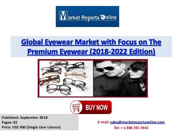 Eyewear Market Size, Share, Industry Trends, Growth & Forecast 2022 Sept 2018