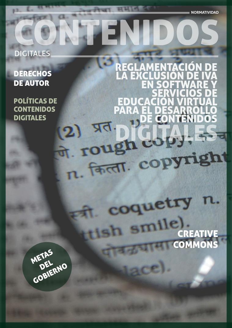 Normatividad De contenidos Digitales Derechos de autor digitales