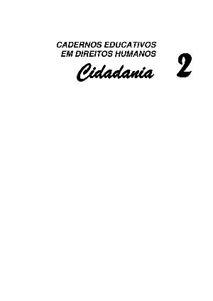 Cartilha - Cidadania Cartilha - Cidadania
