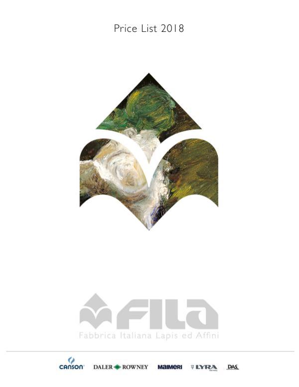 2018 Fila Fine Art Catalog 2018 Fila Fine Art Price List_Catalog