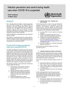 Coronavirus disease (COVID-19) technical guidance by WHO