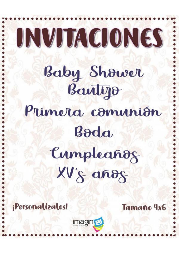 Catálogo invitaciones Imagin
