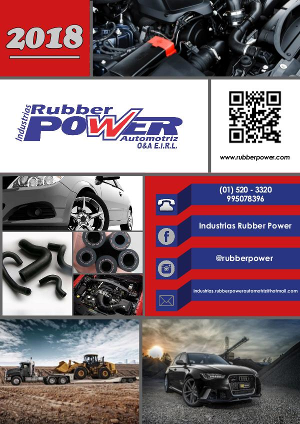 Mi primera revista Catálogo Rubber Power 2018