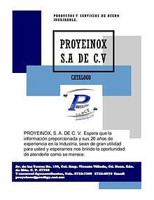Catalogo PROYEINOX S.A DE C.V