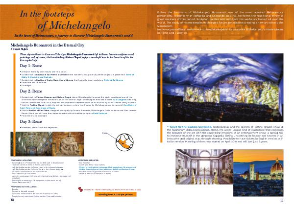 Enjoylive Travel Cultour Proposals In the footsteps of Michelangelo