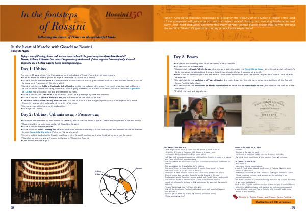 Enjoylive Travel Cultour Proposals In the footsteps of Rossini