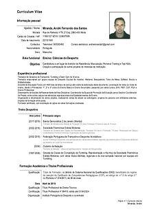 Curriculum Vitae André Miranda