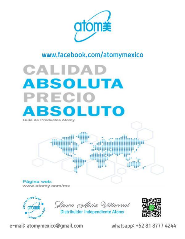 Productos Atomy MENU ATOMY CON PRECIOS