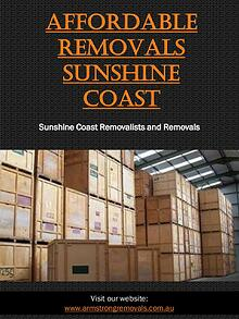 Affordable Removals Sunshine Coast | Call - 0754727588 | armstrongrem