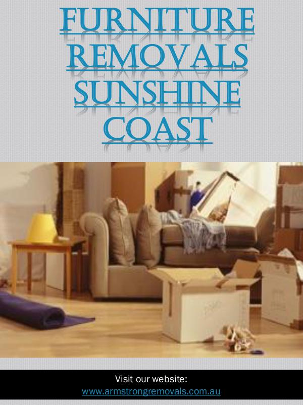 Affordable Removals Sunshine Coast   Call - 0754727588   armstrongrem Furniture Removals Sunshine Coast