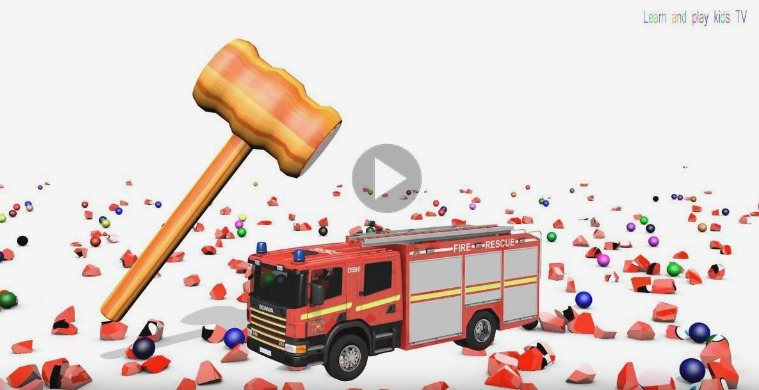 Learning Colors With Street Vehicles for kids with 3D Surprise Eggs 9.-Learning Colors With Street Vehicles for kids w