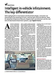 Intelligent in-vehicle infotainment The key differentiator